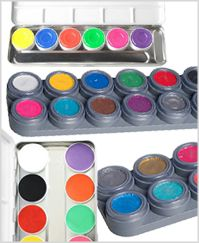 Bodypainting Farbe Palette