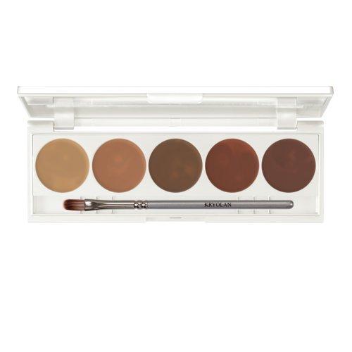 Kryolan Dermacolor Quintett Camouflage Palette dunkle Hautfarben 6