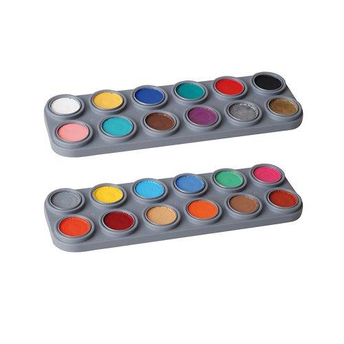 Bodypainting Farbe Körperfarbe Grimas Water Aqua Make up Palette