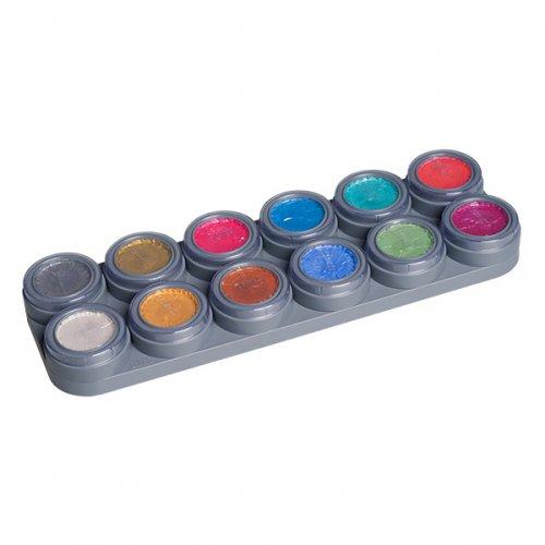 Grimas Kinderschminke Wasserschminke 12 Farben Palette