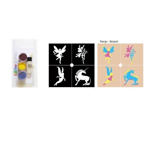 Party Glitter Set Tattoo Kit Elfen