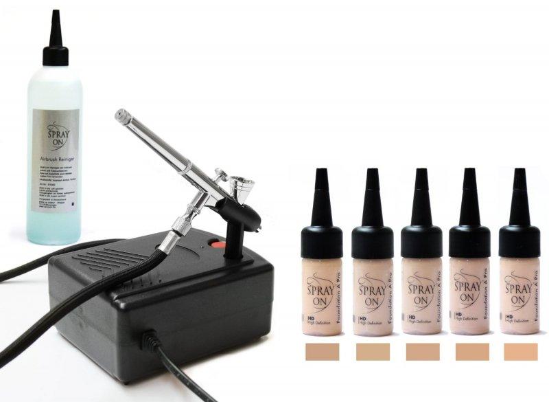 Airbrush Make-up Profi Set Ausstattung Komplett Aqua Deluxe