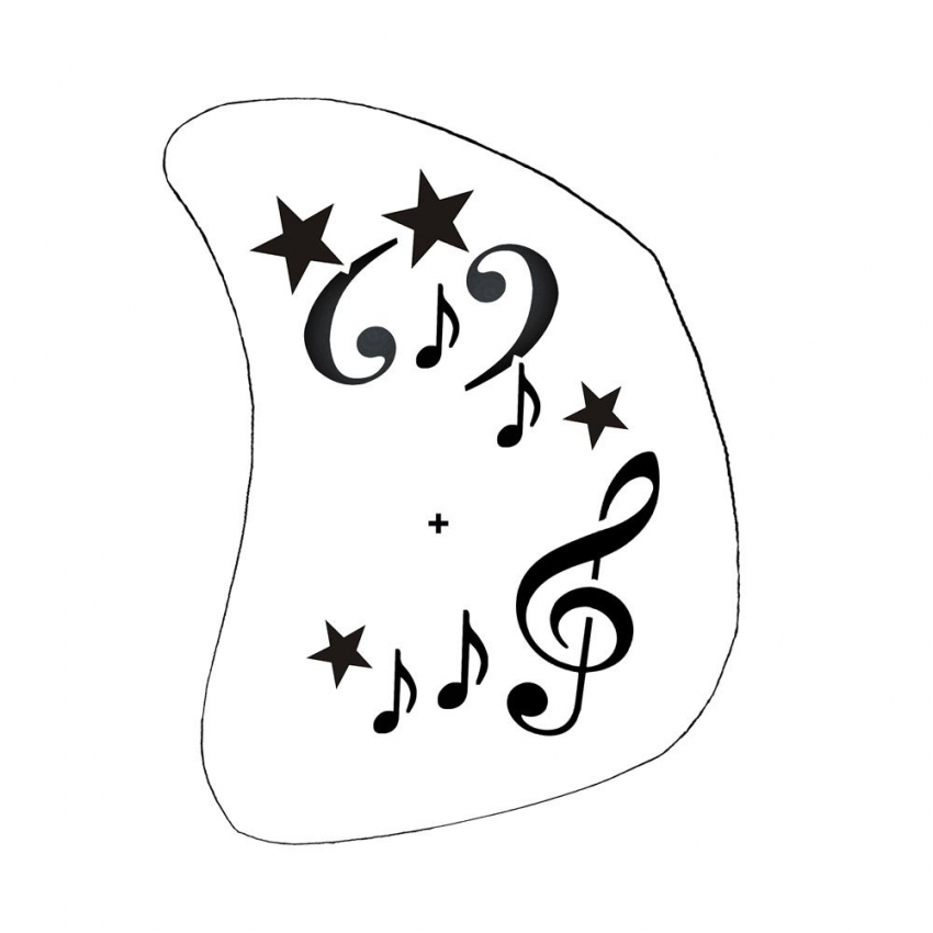 Schmink Schablone Musik Noten