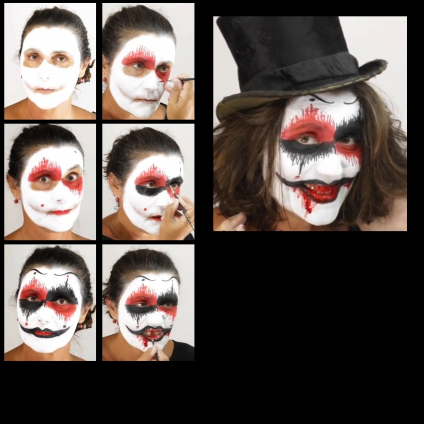 Horror Terror Clown Make up Schminkset