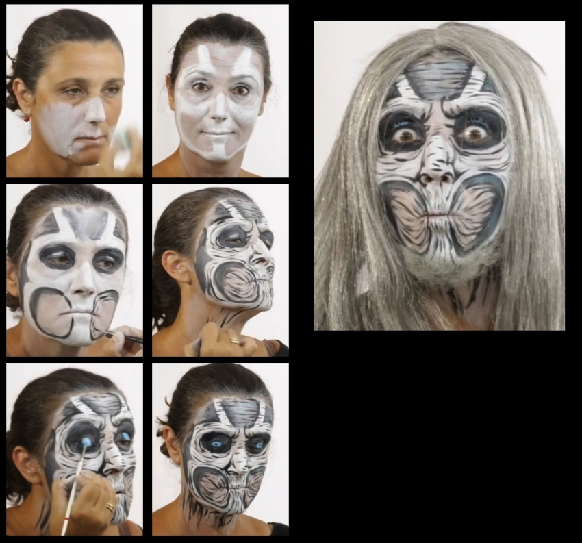 Zombie Schminkset Halloween-make-up