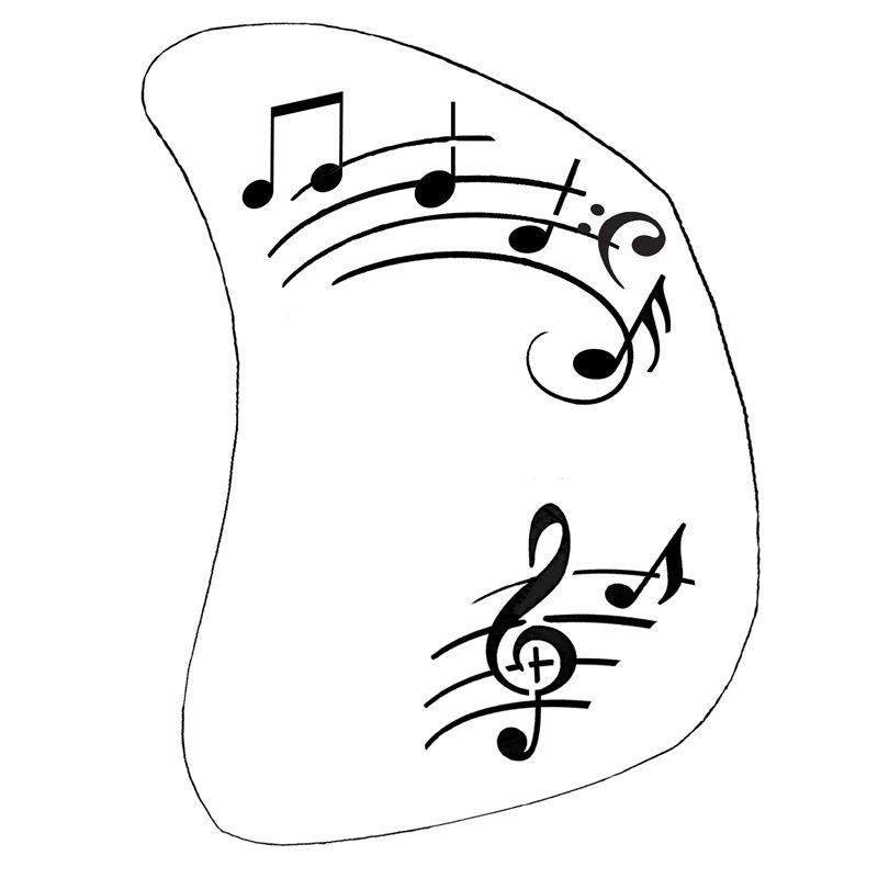 Schminkschablone Musik Noten 2 Schablone