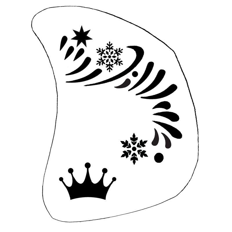 Schminkschablone Eiskönigin Kinderschminken Karneval