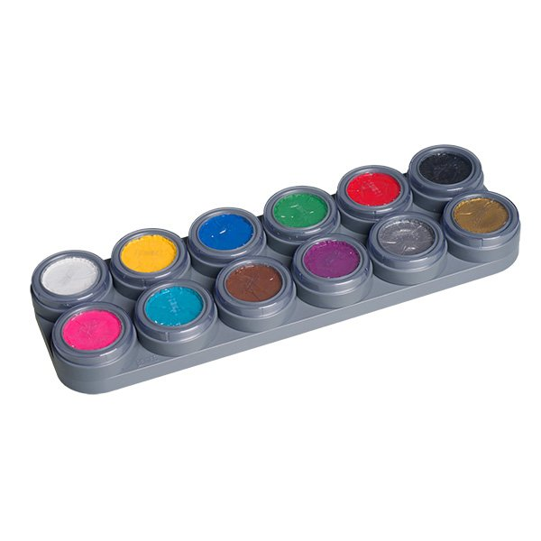 Grimas Water Make up Bodypainting Farbe Körperfarbe 12 Farben Palette A