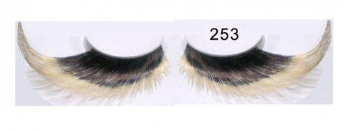 Federwimpern schwarz blond 253