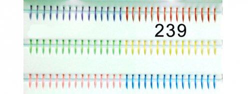 Bunte sechs Farben künstliche Einzelwimpern 239