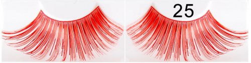 Rote dichte falsche Wimpern 25
