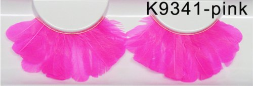 Falsche Wimpern - Federn 9341 pink