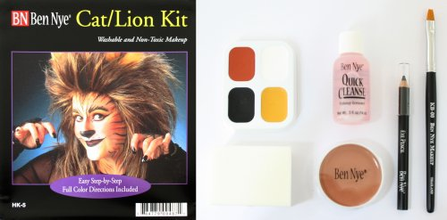 Katze Löwe Make up Set