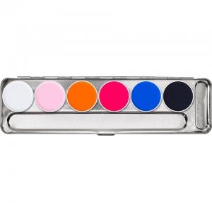 Neon Schminke UV Kryolan Aquacolor Tagesleucht Bodypainting Palette