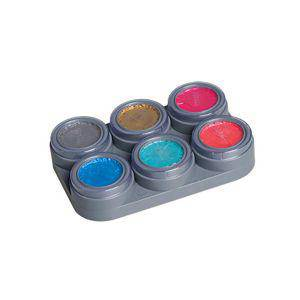 Grimas Pearl Water Make-up Kit 6 Color Palette