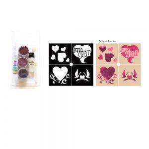 Party Glitter Tattoo Kit Herz