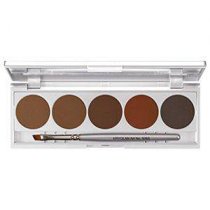 Kryolan Eyebrow Powder 5 Farben Palette en