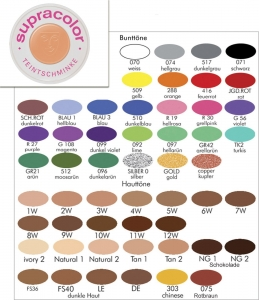 Kryolan Supracolor Fettschminke Teintschminke 30 ml