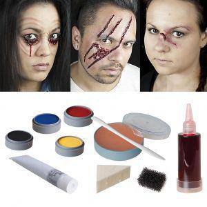 Halloween Makeup Set opened gaping gashes