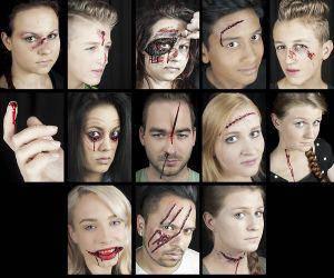 Grimas Halloween Schminke Set Schminkset Wunden schminken
