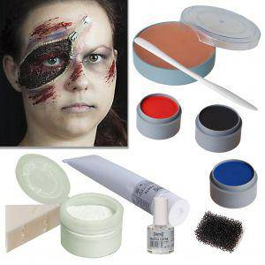 Halloween Schminke Set Zipper Face Zombie Reissverschluss schminken
