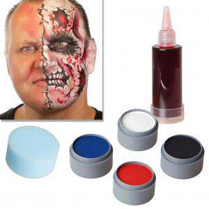Halloween Schminke Set Cartoon Zombie schminken Theaterschminke