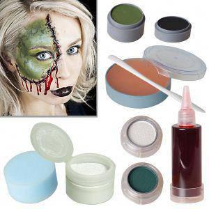 halloween schminke set cartoon zombie schminken theaterschminke. Black Bedroom Furniture Sets. Home Design Ideas