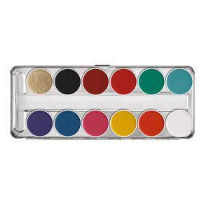 Kryolan Aquacolor palette FP 12 colors