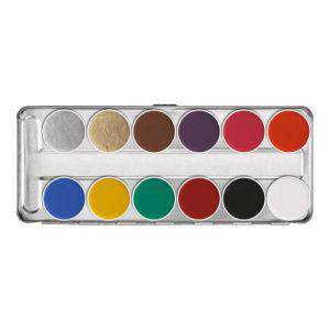 Kryolan Aquacolor Palette SN 12 Farben
