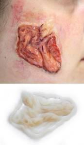 Halloween Schminke gruselig Schminken Hautkrankheit  Infektion Silikon Teil P5-2