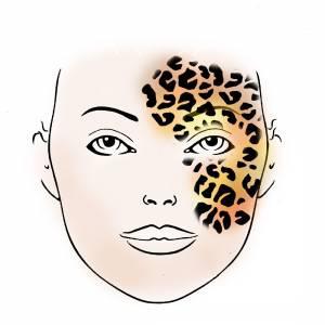 Schmink Schablone Leopard