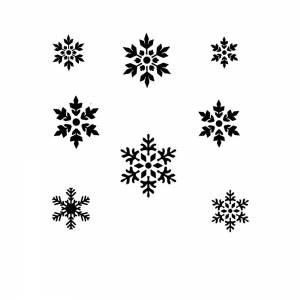 Schmink Schablone Schneeflocke