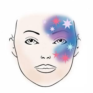 Schmink Schablone Sterne 1