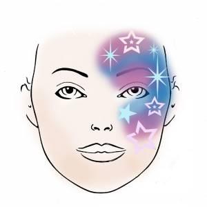 Schmink Schablone Sterne 2