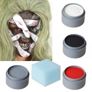 Monster Horror Mumie schminken Halloween Schminkset