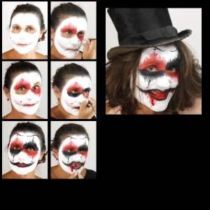 Horror Terror Clown Make up Schminkset