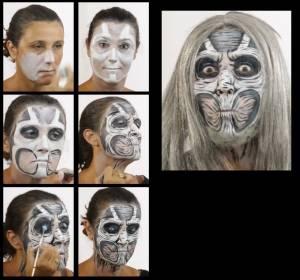 Zombie Schminkset Halloween
