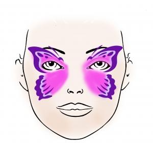Schminkschablone Schmetterling Kinderschminken Karneval