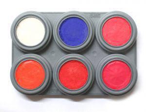 Grimas UV Glow Schwarzlicht Neon Schminke Water Make-up Palette