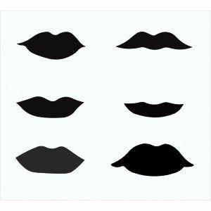 Lippen Schablone
