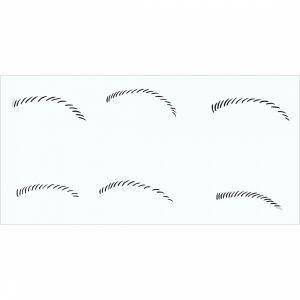 Augenbrauen Schablone 2