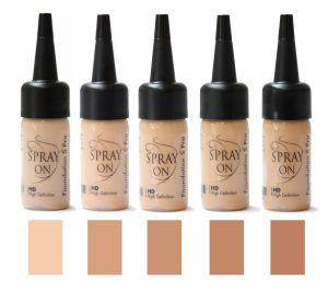 Airbrush Make up Foundation Tester Set SILICONE BASE olive beige