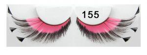 Federwimpern fedrig pink schwarz 155