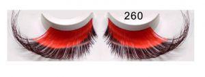Lange Federwimpern rot schwarz 260