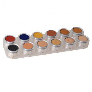 Camouflage Make-up Grimas 12 Farben CB Palette