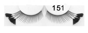 Extravagante falsche Wimpern Federn schwarz 151