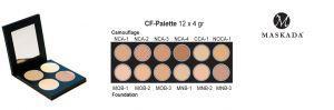 Camouflage / Matte Foundation Palette - 12 Farben - CF-Palette