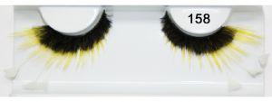Federwimpern schwarz gelb künstliche fedrig 158