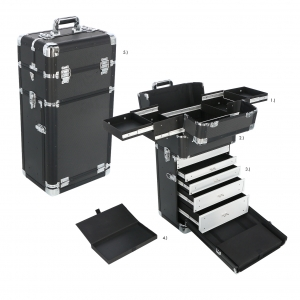 Visagistenkoffer Make up Artist Koffer Trolley